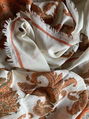 Esprit Bufanda tubo naranja-blanco puro