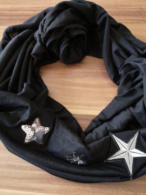 Laura Torelli Écharpe tube noir-argenté