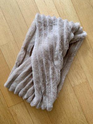 Bufanda tubo beige-marrón claro