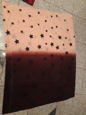 Pieces Écharpe tube rose clair-brun pourpre