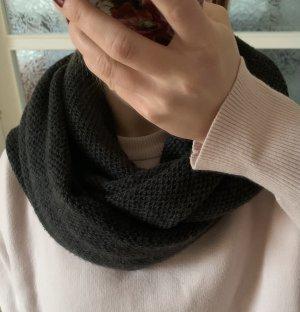 H&M Bufanda tubo gris antracita-gris oscuro