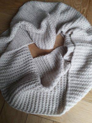 Bufanda tubo blanco puro-beige claro