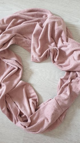 Schlauchschal in Rosa mit kleinen Steinchen