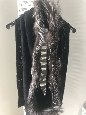 Tubesjaal zwart Wol