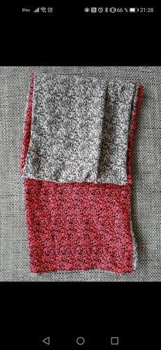 Pieces Bufanda tubo gris claro-rojo claro