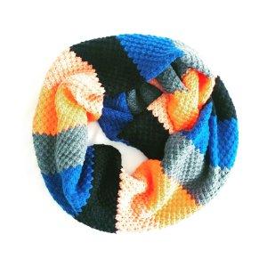 Vintage Bufanda tubo multicolor