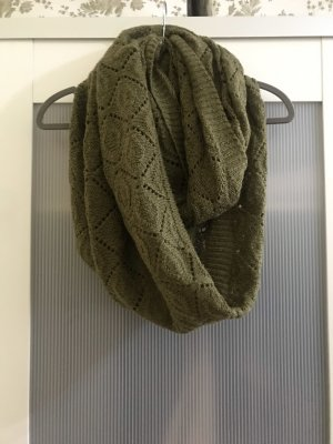 H&M Bufanda tubo verde oliva-gris verdoso