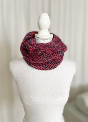 Écharpe tube multicolore laine
