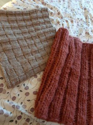 Atmosphere Wollen sjaal grijs-bruin-cognac