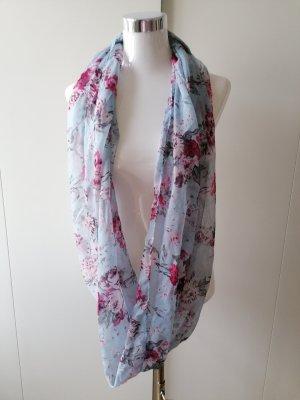 Écharpe ronde rose-bleu