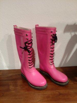 Ilse jacobsen Wellington laarzen roze-zwart