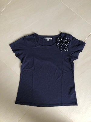 Autograph T-shirt donkerblauw Gemengd weefsel