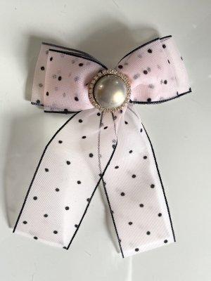 Schleifenbrosche Schleife Brosche Strass Perlen handmade