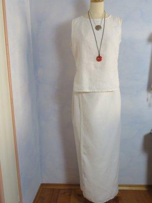 Wraparound natural white-white linen