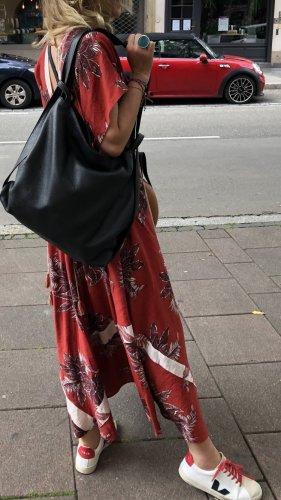 Schlicht minimalistisch Tasche Rucksack Slingtasche Schwarz neu Leder