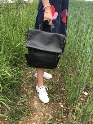 schlicht modern TOP Design Rucksack Damenrucksack leder schwarz neu