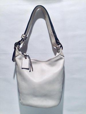Schlichte COACH Handtasche aus weißem Leder