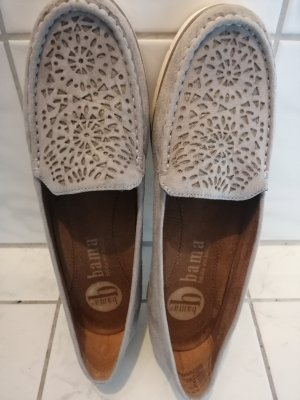 Bama Moccasins silver-colored-grey