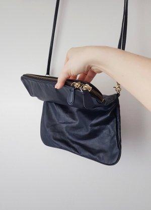 Schlichte Handtasche schwarz-gold / Clutch