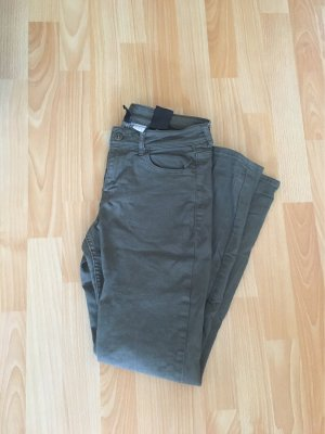 H&M Low-Rise Trousers green grey
