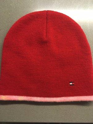 Tommy Hilfiger Chapeau en tricot rouge foncé