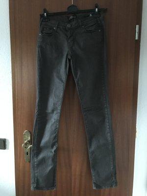 Cimarron Pantalon taille basse noir coton