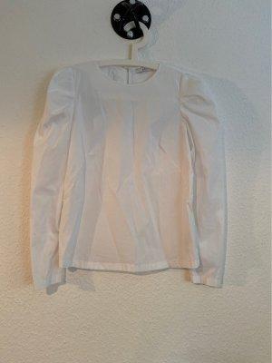 Schlichte weiße Bluse aus Baumwollmix in Gr.S von etc.