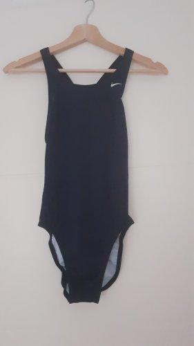 Nike Maillot de bain blanc-bleu foncé