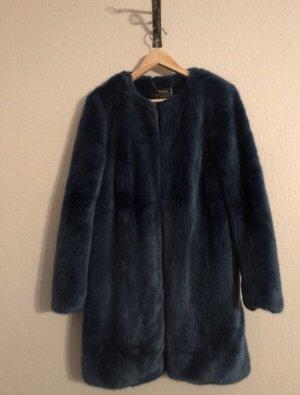 b.p.c. Bonprix Collection Płaszcz ze sztucznym futrem