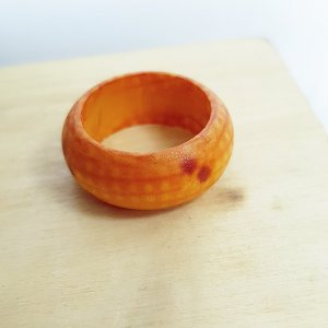 Statement Ring brown-cognac-coloured