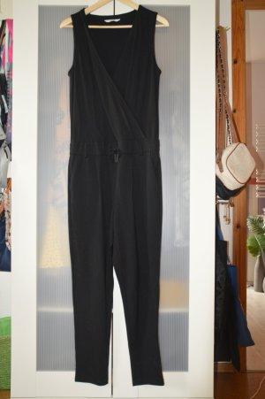 Schlichter, langer, eleganter Jumpsuit mit Cache Coeur-Ausschnitt