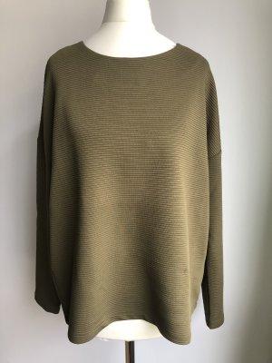 Schlichter Pullover   Khaki