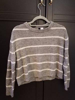 H&M Divided Crewneck Sweater white-light grey
