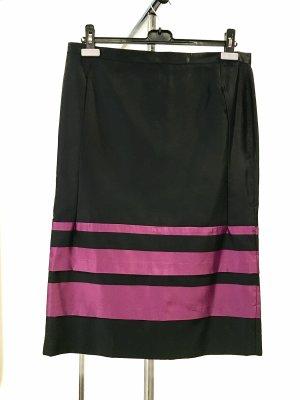 Jupe en soie noir-violet