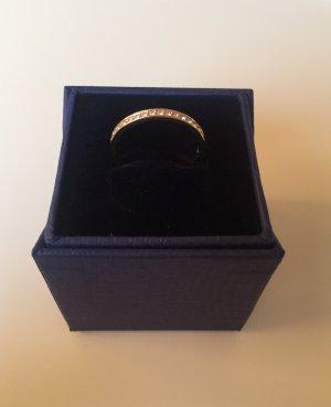 Schlichter Swarovski Ring vergoldet