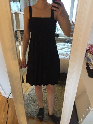 Schlichtes, easy Sommerkleid in schwarz, H&M, Gr. 34