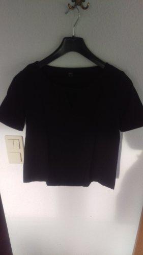 Mexx V-Neck Shirt black mixture fibre