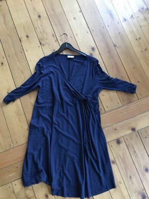 Yessica Vestido de tela de jersey azul oscuro