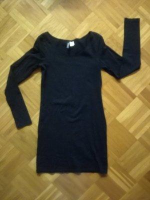 Schlichtes Jerseykleid in schwarz