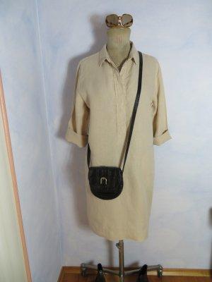 Schlichtes Leinenkleid - Beige - 100% Leinen - Gr. M L/40 - Nadine H. - 1 x getragen