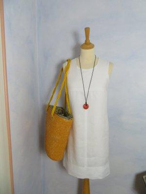 Schlichtes My Diary Leinenkleid - Gr. 34 - Weiß - 100% Leinen - Sommerkleid