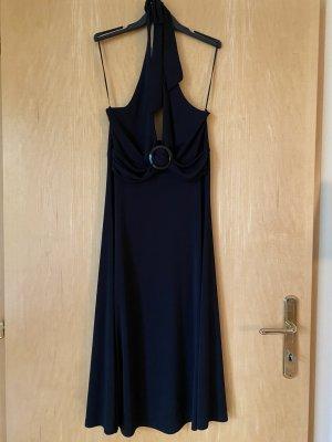 H&M Robe dos-nu noir polyester