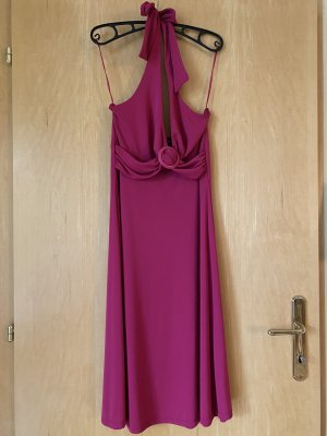 H&M Robe dos-nu magenta polyester