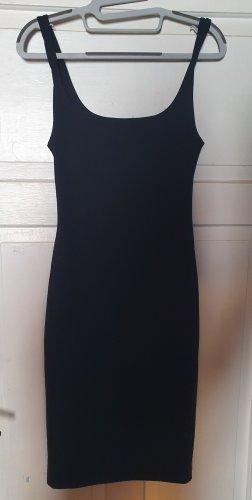 Schlichtes schwarzes Kleid XS/S