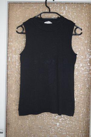 H&M Gebreide top zwart Katoen