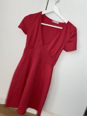 Zara Abito linea A magenta-rosso lampone