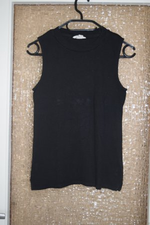H&M Neckholder Top black cotton