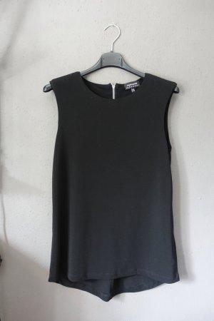 Warehouse Blusa nero-argento Tessuto misto