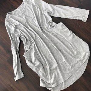 Robe t-shirt argenté