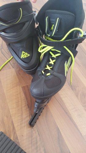 Bottes de neige noir-jaune fluo